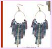 Exporter and wholesale manufacturers of contemporary fashion costume metallic dangle fashion earring and eccessories
