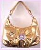 china export fashion accessory - wholesale fashion handbag gold with flower design