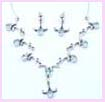wholesale fashion jewelry from china - Silver fashion neclace and earring fashion accessory