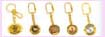 Promotional keychain gift from china supplier- various gold color design