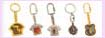 promotional gift items from china -  various desinged keychain in gold and silver