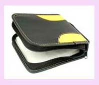 CD Holder - portable black cd dvd holder case