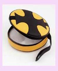 china trade complany CD holder - black and yellow round cd holder