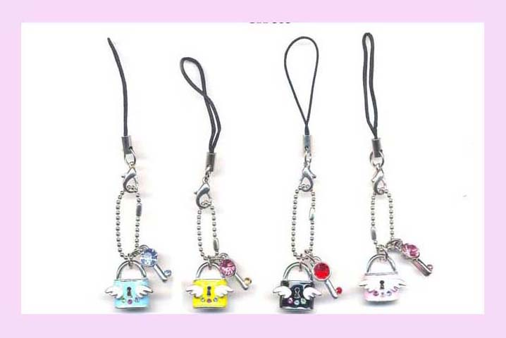 Cell Phone Accessory - cell phone strap wrist and key chain with fashion lock