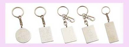 promotional gift china wholesale - silver etched keychain in various desing and sizes