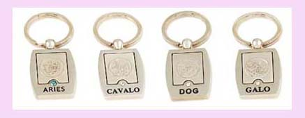 fine wholesale promotional item - various symbols and desings availablel etched on silver keychain