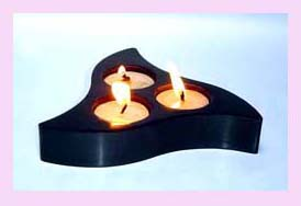 home decor wholesale supplier - dark wood oil burner with three candle settings available