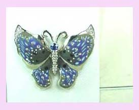 promotional gift distributor - blue and black butterfly pin available