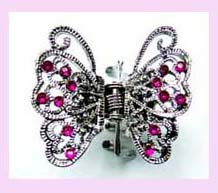 wholesale gift supplier - silver butterfly with purple stones available