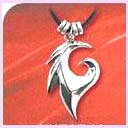 wholesale desing jewelry distributor - silver wave shaped pendant available